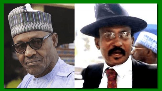 President Buhari and Col. Abubakar Dangiwa Umar