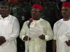 South East Governors - Governor Ifeanyi Ugwuanyi of Enugu state, Governor David Umahi of Ebonyi state and Governor Willie Obiano of Anambra state