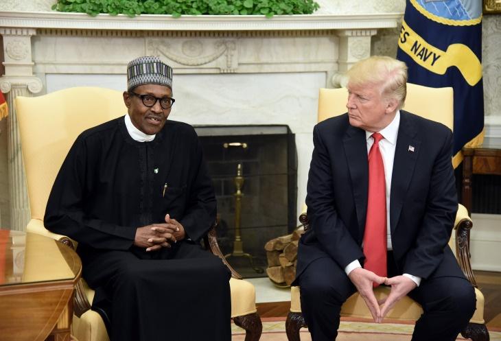 President Trump Welcomes Nigerian President Buhari To The White House