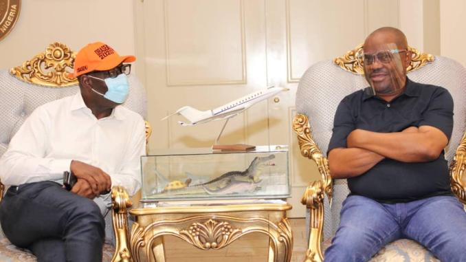 Obaseki visits Wike in Portharcourt