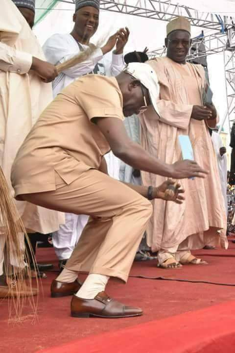 Oshiomhole dancing in an APC rally