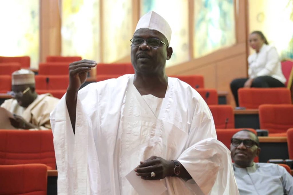 Senator Ali Ndume speaking at the senate