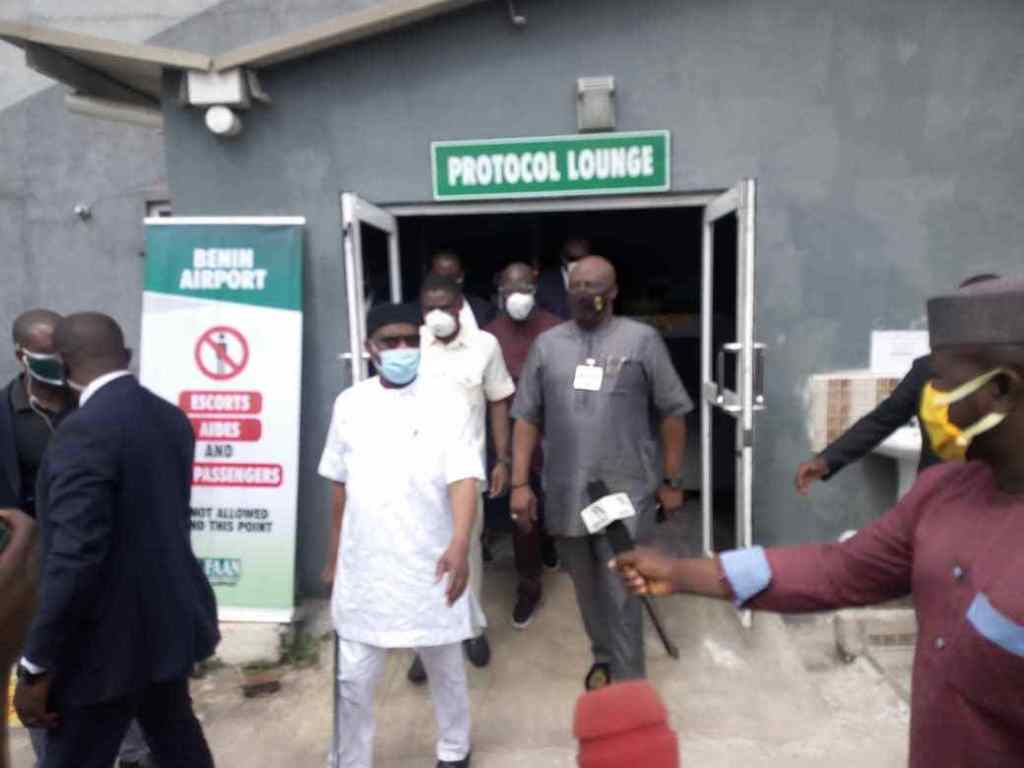 EDO 2020- Wike and Secondus at the airport