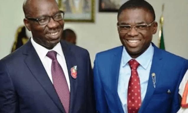 Edo state Governor Godwin Obaseki and Deputy Governor Philip Shaibu