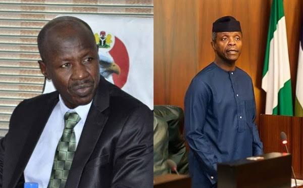 Ibrahim Magu and Vice president of Nigeria Prof. Yemi Osinbajo