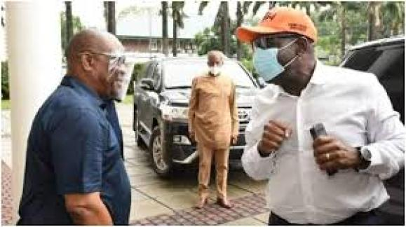 Rivers state governor Wike and Edo state governor Obaseki
