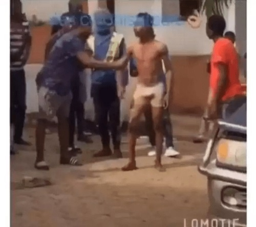 Yahoo Boy Runs Mad, Goes Naked After Failing To Fulfil Satanic Money Rituals (Video and Photos)