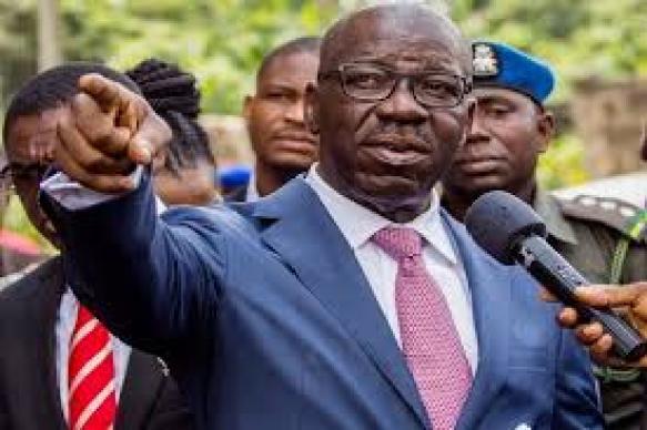 Obaseki pointing finger