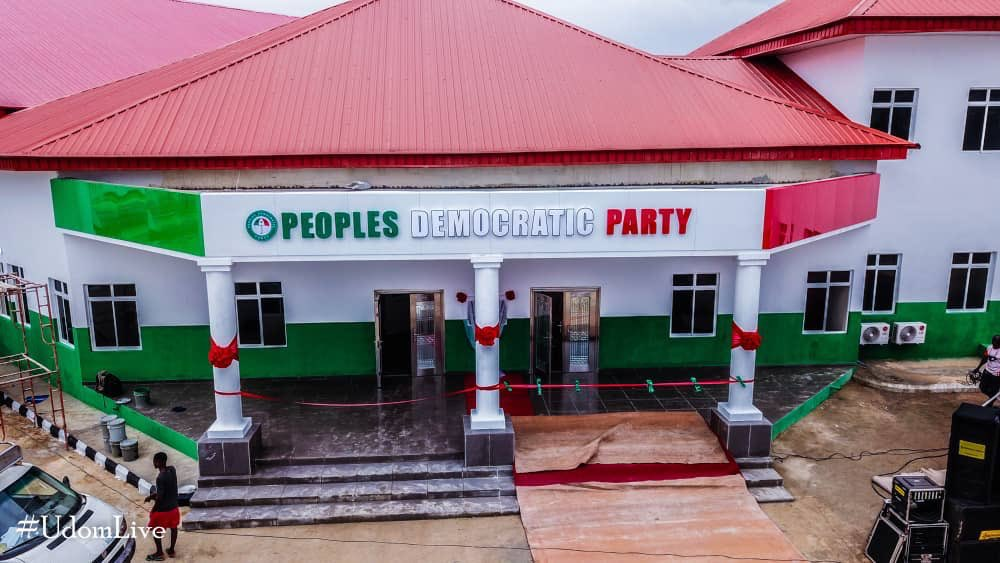 Peoples Democratic Party Secretariate in UYO Akwa Ibom state