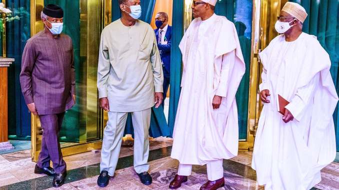 President Buhari and pastor Adeboye in a meeting in Aso Rock (Photos) -1