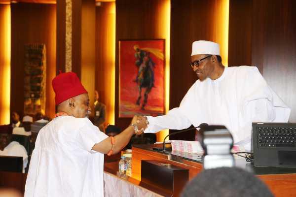 President Buhari felicitates with Dr. Chris Ngige on his 68th Birthday