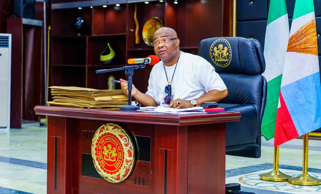 Imo state Governor Hope Uzodimma