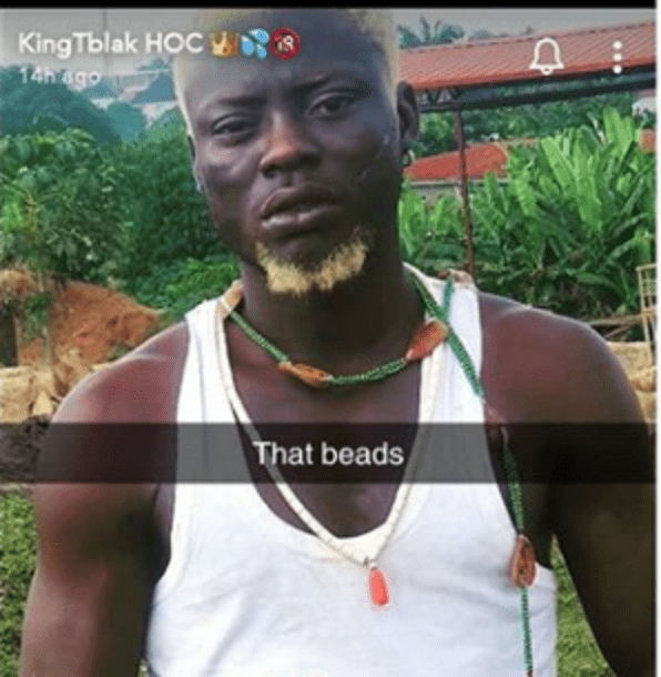 Nigerian pornstar, Kingtblakhoc reportedly arrested for using Ifa worshippers' item to shoot a porn movie 1