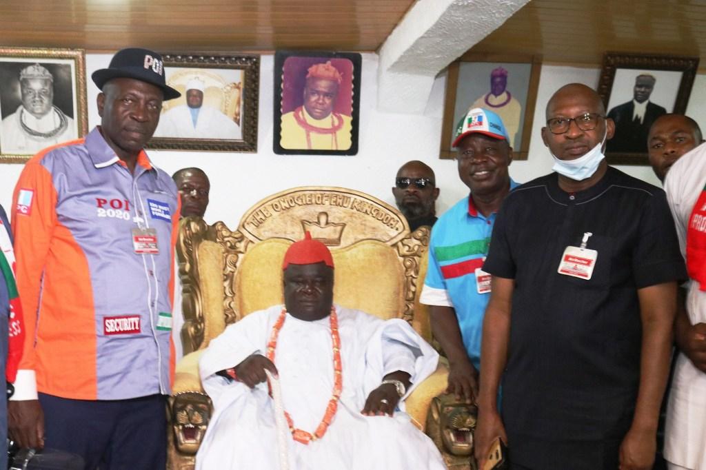 Pastor Osagie Ize Iyamu pays a campaign royal visit