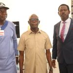 Photonews from Oshiomhole Press conference on non-violent elections held in Benin City, Edo State