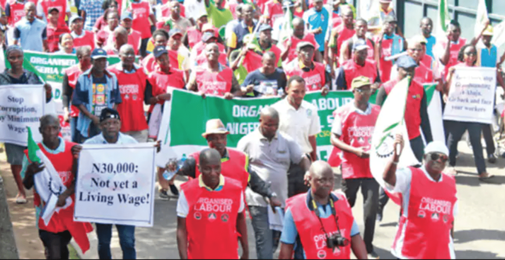 NLC Nigeria Labour Congress Protest on Minimum Wage