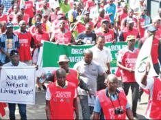 NLC Nigeria Labour Congress Protest on Minimum Wage