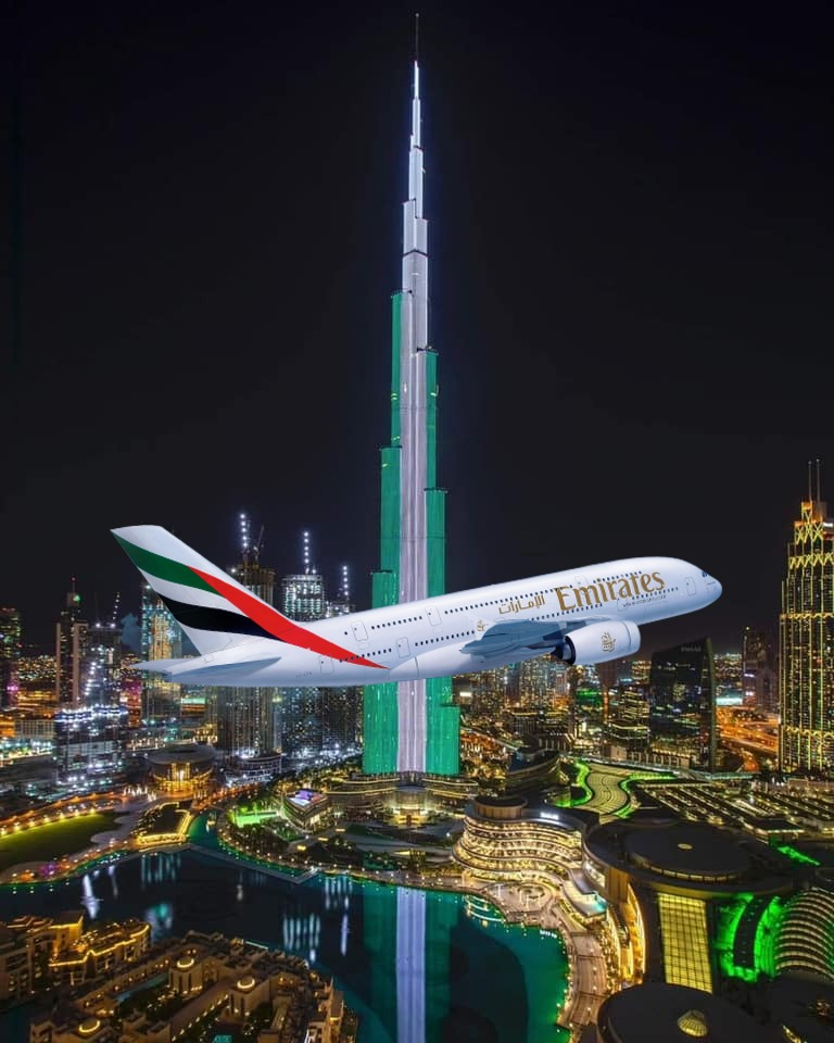 Why Nigerian Government Banned Emirates Airline, and Why UAE Lighted Up World's Tallest Building Burj Khalifa To Celebrate Nigeria's Independence 1