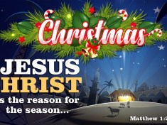 Jesus Christ is the reason for the season - Merry Christmas