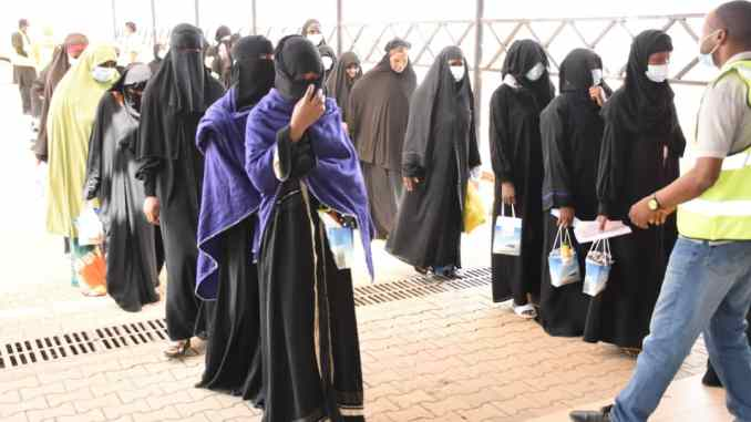 420 Nigerian returnees from Saudi Arabia received in Abuja
