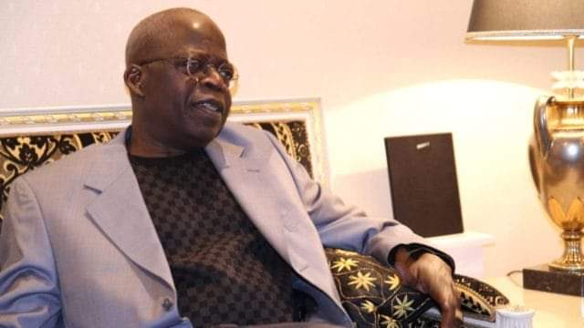 Bola Ahmed Tinubu in his home