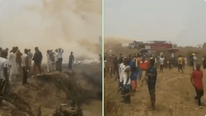 PLANE CRASHES IN ABUJA SHORTLY AFTER TAKING OFF ENROUTE MINNA
