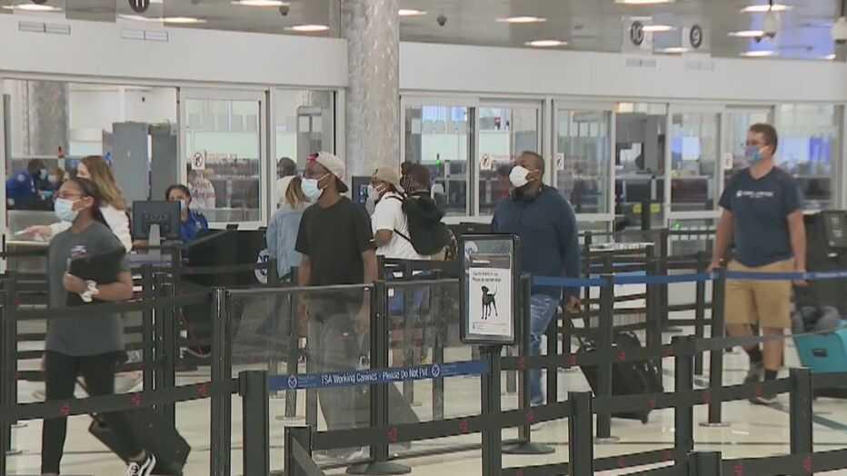 Passengers at the Atlanta Airport