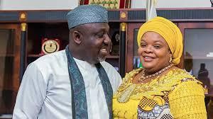 Senator Rochas Okorocha and his wife
