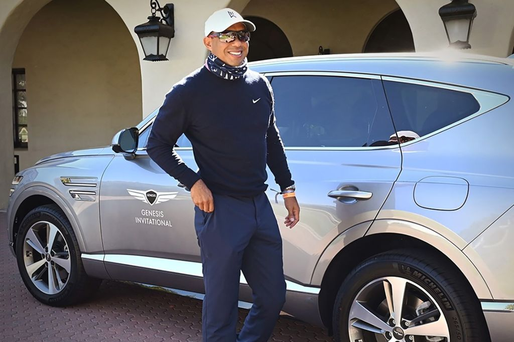 Tiger Woods and His SUV
