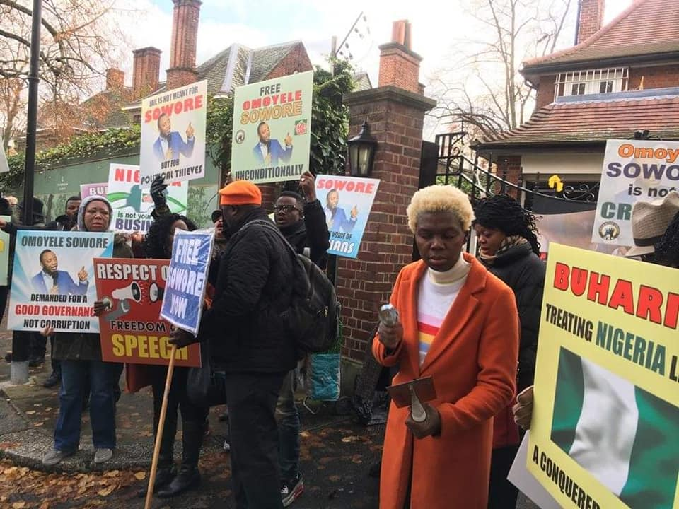 Buhari Must Go Protesters in London #BuhariMustGo