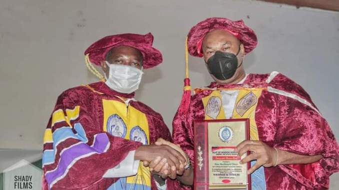 ENTRACO GM MCDONALD EBERE BAGS A PRESTIGIOUS AWARD FROM SEAT OF WISDOM SEMINARY OWERRI - 9NEWS NIGERIA