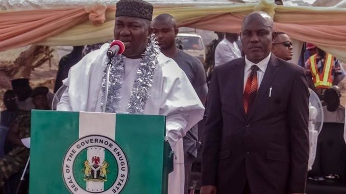 Enugu state Governor Ugwuanyi commissions water projects in Enugu