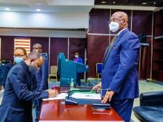 GOV. HOPE UZODIMMA INAUGURATES THE NEW IBC MANAGEMENT COMMITTEE - 9NEWS NIGERIA