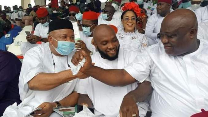 Imo legislators and Commissioners led the visit of dignitaries to celebrate GOVERNOR UZODINMA'S ACHIEVEMENTS