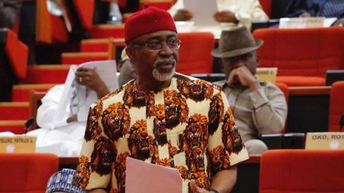 Nigerian Senate Minority Leader, Senator Enyinnaya Abaribe (PDP)