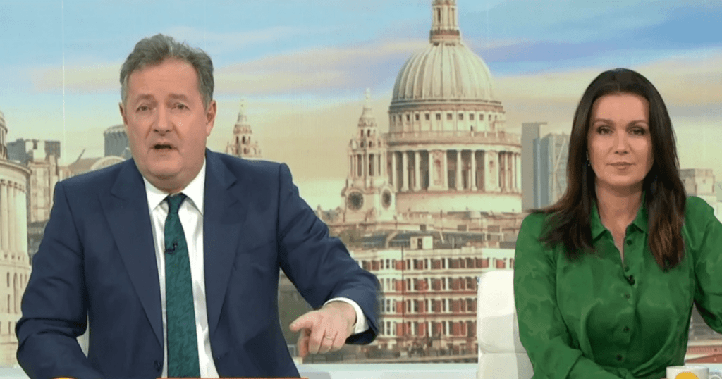 Piers Morgan and Sussana on the British Morning Show TV program