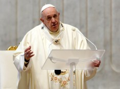 FILE PHOTO: Pope Francis conducts a Mass on the feast day of Our Lady of Guadalupe, in Vatican City