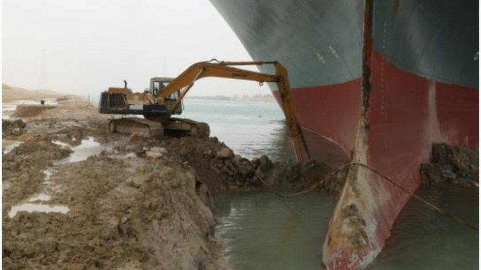 Ship Traffic due to Suez blockage is holding $9.6bn of goods each day - expert