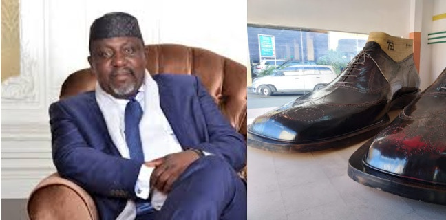 THE BIG DESIGNER SHOE, OKOROCHA LEFT BEHIND THAT IS CAUSING THE BROUHAHA IN IMO