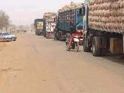 Trucks were blocked from supplying food from the North to Southern Nigeria