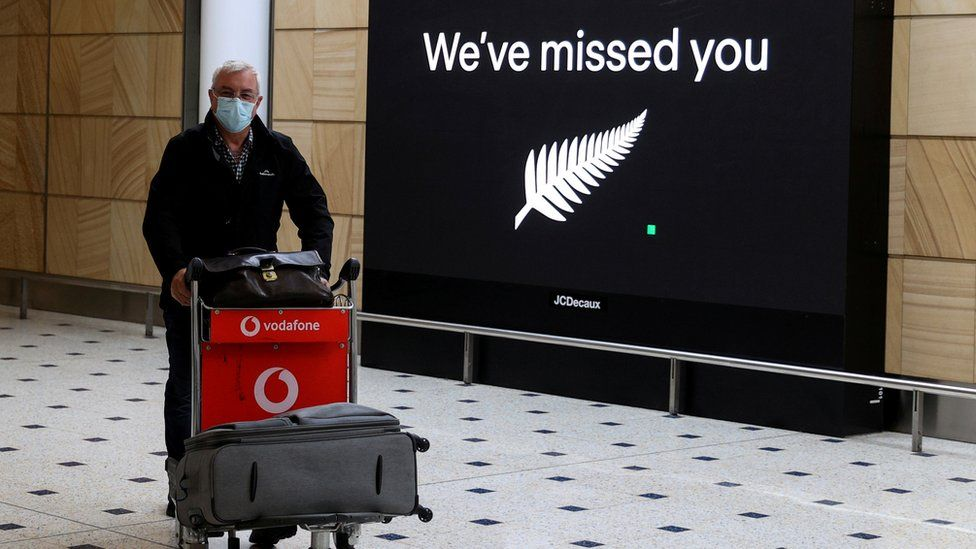 A passenger from New Zealand arriving at Sydney Airport last October