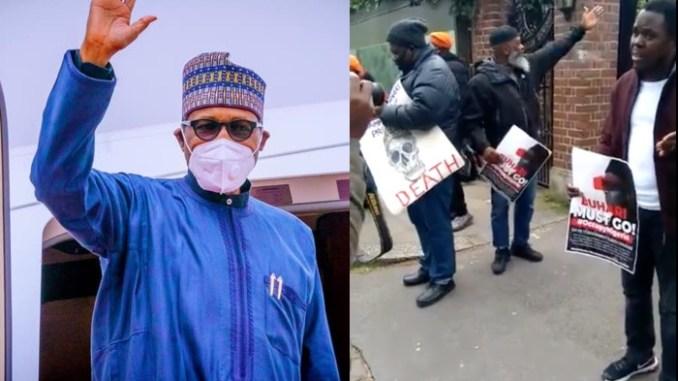 As #BuhariMustGo Protest Heightens, Buhari Leaves London On His Way To Saudi Arabia