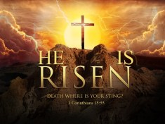 HE IS RISEN- DEATH WHERE IS YOUR STING