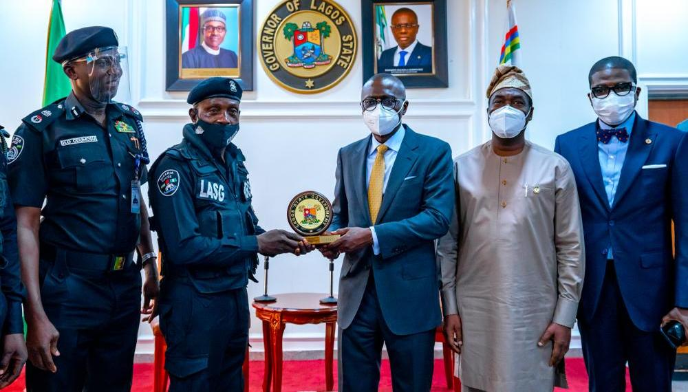 Lagos Policeman Assaulted By Civilian Receives Award From Governor Sanwo Olu