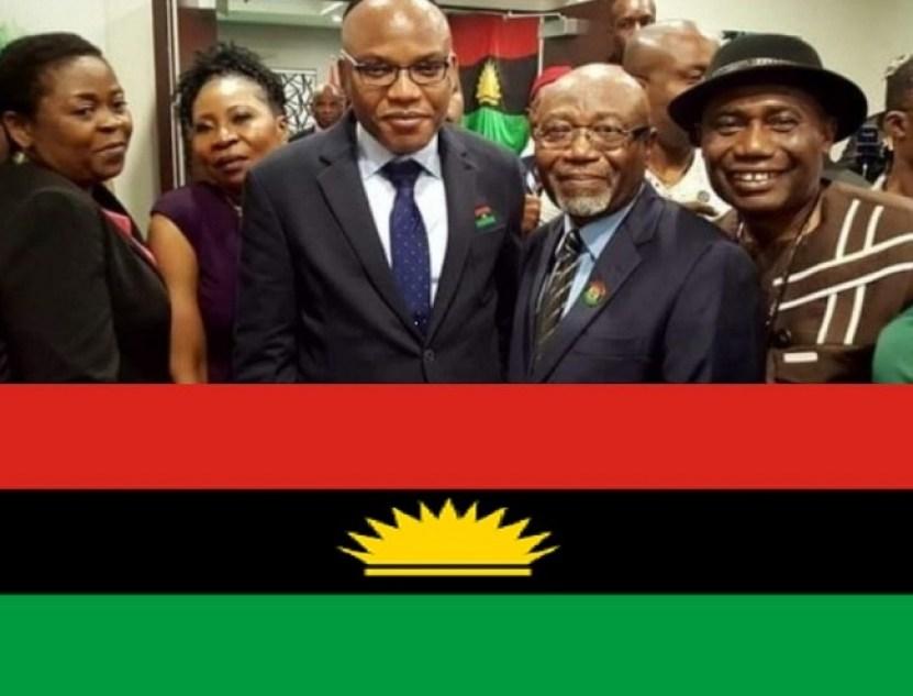 Nnamdi Kanu with IPOB in diaspora