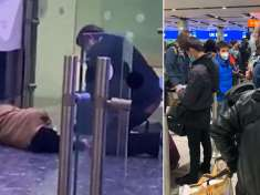 Passenger collapses at Heathrow Airport after '7-hour Covid queue and 90-minute argument over hotel quarantine