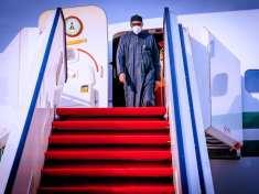 President Buhari returns to Abuja after Private trip to London on 15th April 2021 - 9News Nigeria, Abuja