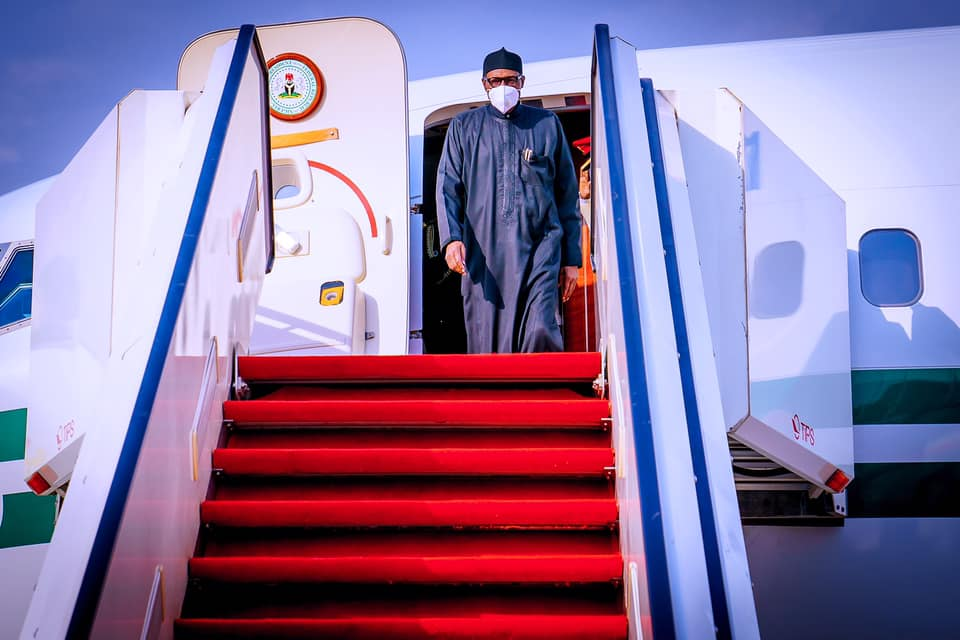 President Buhari returns to Abuja after Private trip to London on 15th April 2021 - 9News Nigeria, Abuja