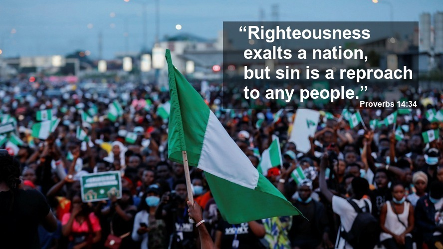 """The Search For A New Nigeria (2) - 'RIGHTEOUSNESS' -  """"Righteousness exalts a nation, but sin is a reproach to any people."""" Proverbs 14:34"""
