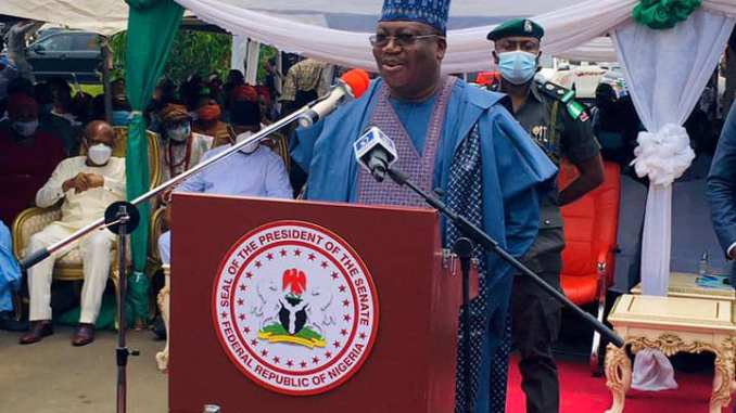 SENATE PRESIDENT AHMAD LAWAN AT THE IMO STATE PROJECTS COMMISSIONING IN OWERRI - 9NEWS NIGERIA